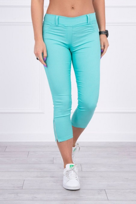 Colorful jeans 7/8 mint