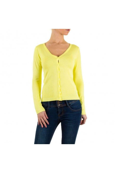 Damen Strickjacke Gr. one size - yellow
