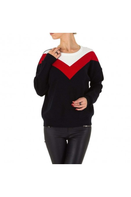 Damen Pullover von Voyelles Gr. one size - blackred