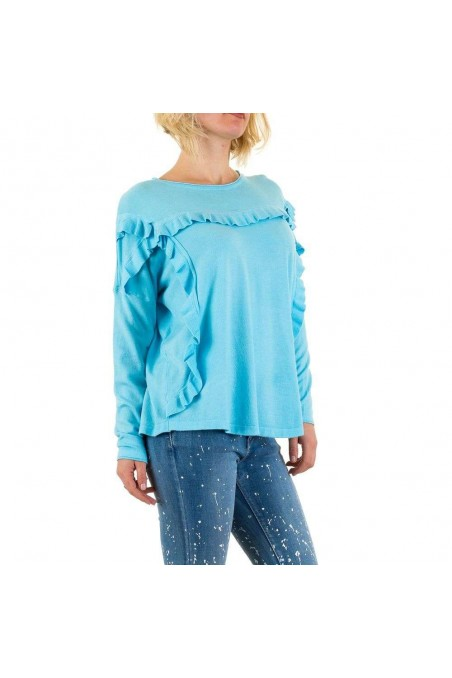 Damen Sweatshirt Gr. one size - blue