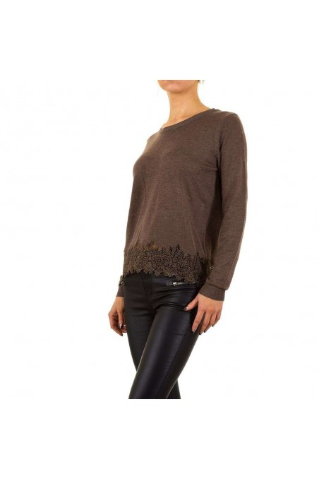 Damen Pullover von Moewy Gr. one size - coffee
