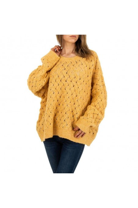 Damen Pullover von JCL Gr. One Size - yellow