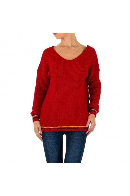Damen Pullover von Milas Gr. one size - red