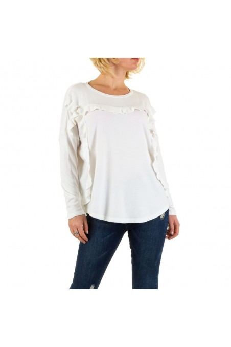 Damen Sweatshirt Gr. one size - white