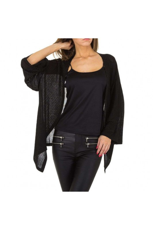 Damen Strickjacke von JCL - black
