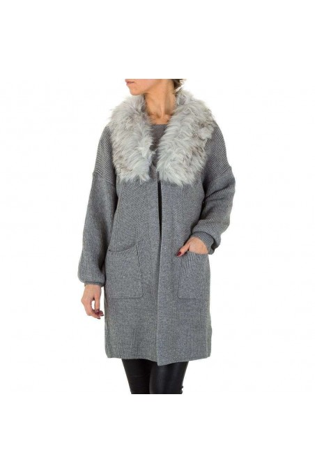 Damen Mantel von Voyelles Gr. One Size - grey