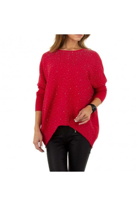 Damen Pullover von Voyelles Gr. One Size - red