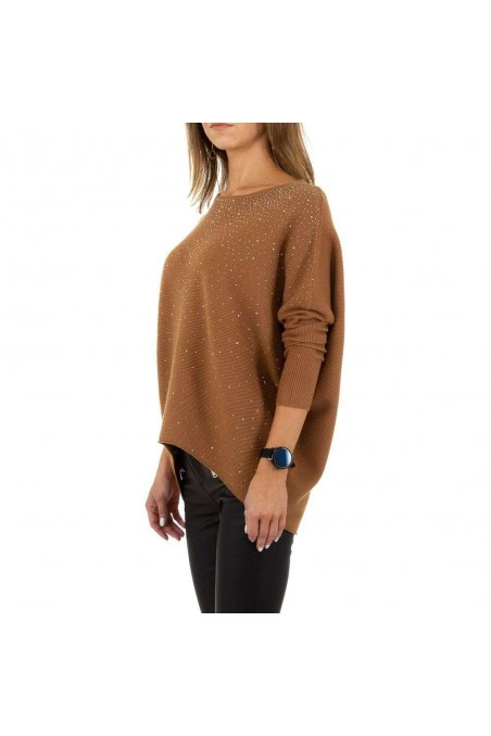 Damen Pullover von Voyelles Gr. One Size - brown