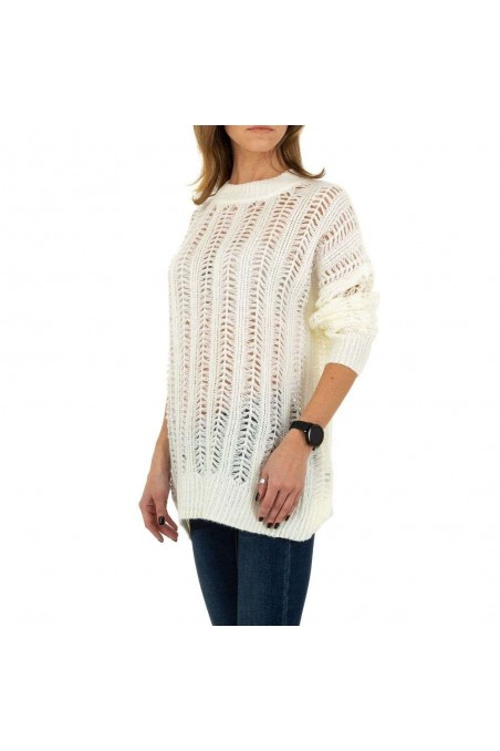 Damen Pullover von Emma&Ashley Gr. One Size - white