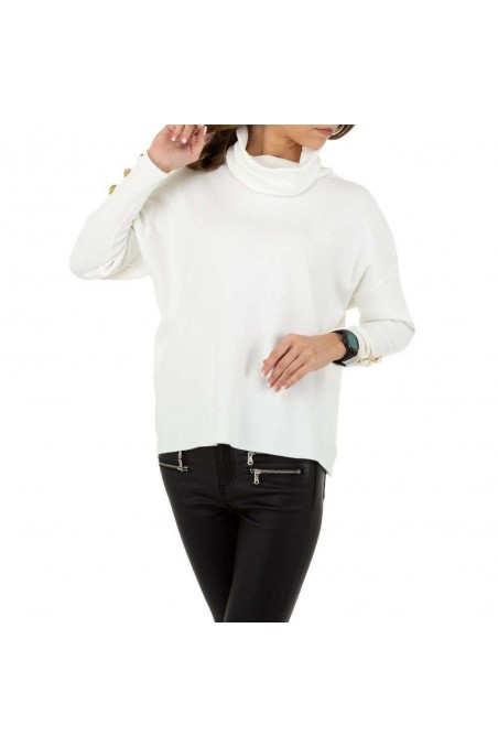 Damen Pullover von SHK Paris Gr. One Size - white