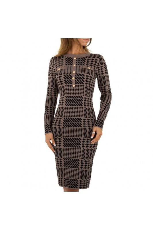 Damen Kleid von Emma&Ashley Design - taupe