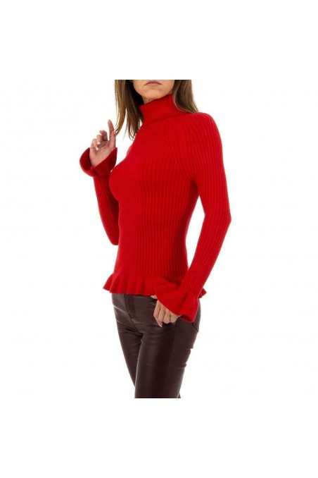 Damen Pullover von SHK Paris Gr. One Size - red