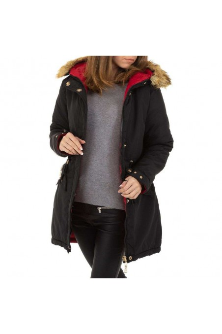 Damen Jacke von Nature - blackred