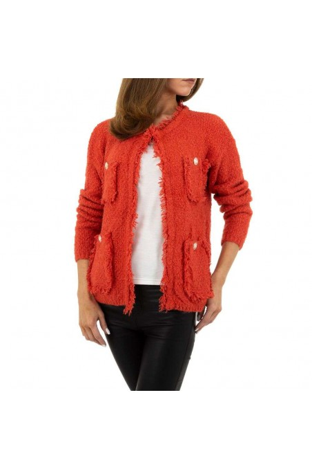 Damen Strickjacke von Voyelles Gr. One Size - red