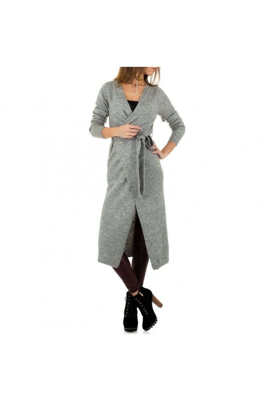 Damen Strickjacke von Voyelles Gr. One Size - grey
