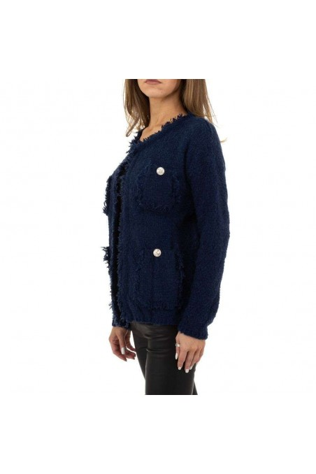 Damen Strickjacke von Voyelles Gr. One Size - blue