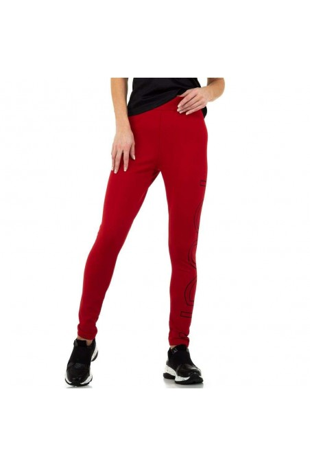 Damen Leggings von Glo Story - red