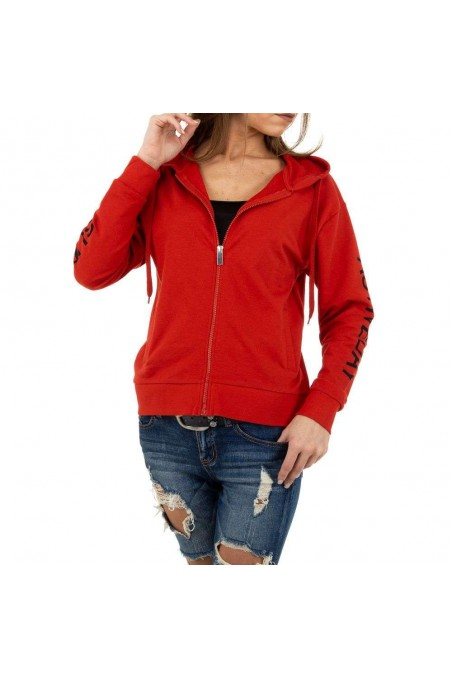 Damen Sweatjacke von Glo Story - red