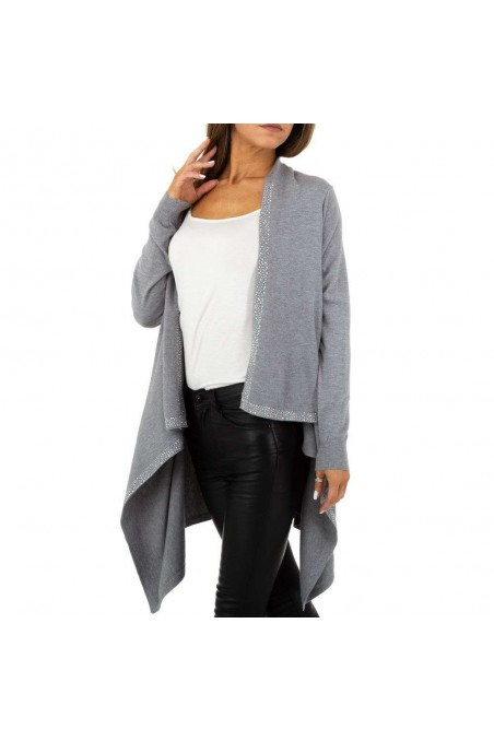 Damen Strickjacke von Glo Story Gr. One Size - grey