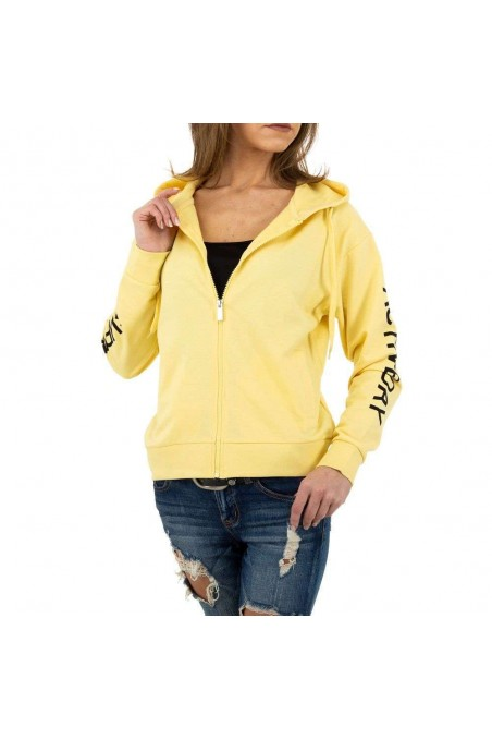 Damen Sweatjacke von Glo Story - yellow