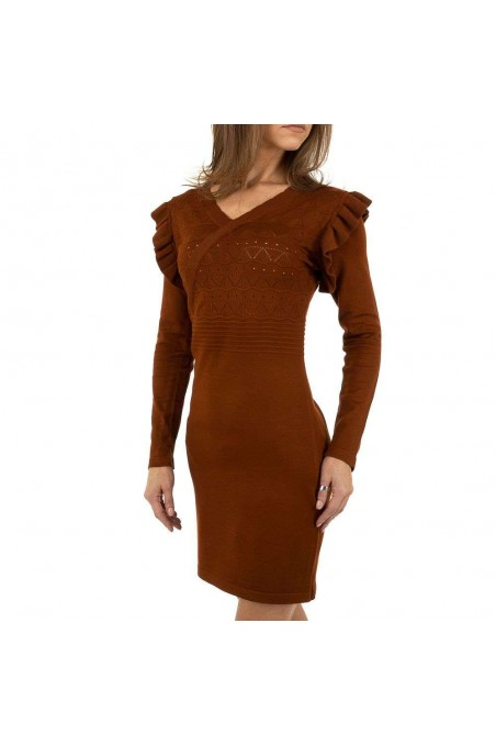 Damen Kleid von Emma&Ashley Design - brown