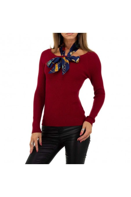 Damen Pullover von Whoo Fashion Gr. One Size - red