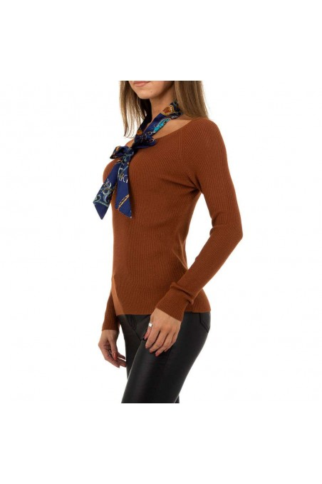 Damen Pullover von Whoo Fashion Gr. One Size - brown