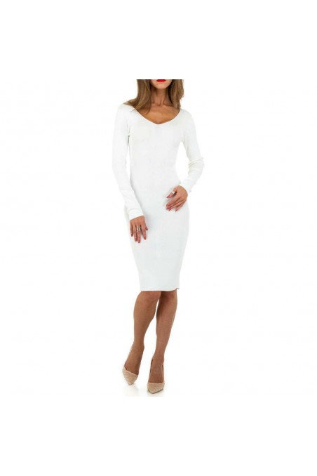 Damen Kleid von Whoo Fashion Gr. One Size - white