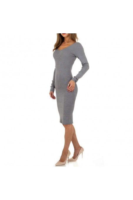 Damen Kleid von Whoo Fashion Gr. One Size - grey
