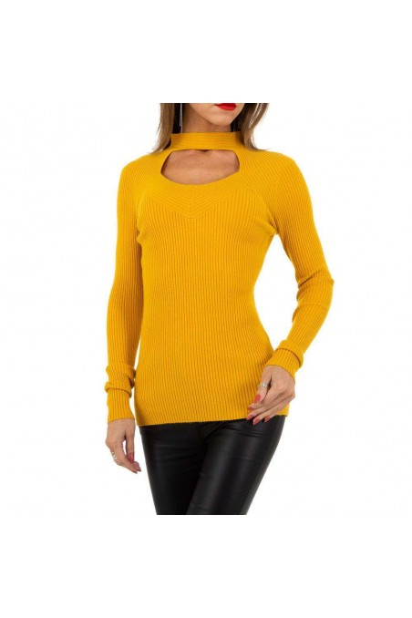 Damen Pullover von Whoo Fashion Gr. One Size - yellow