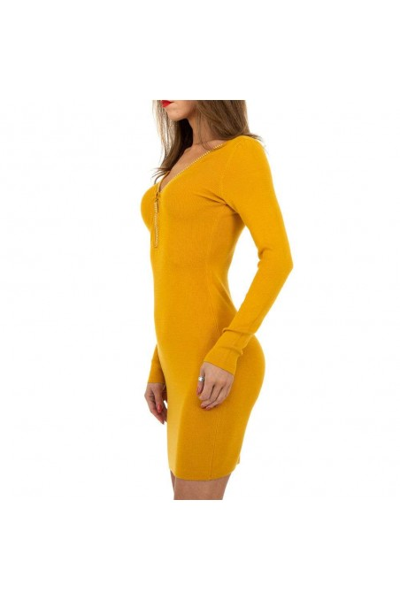 Damen Kleid von Whoo Fashion Gr. One Size - yellow