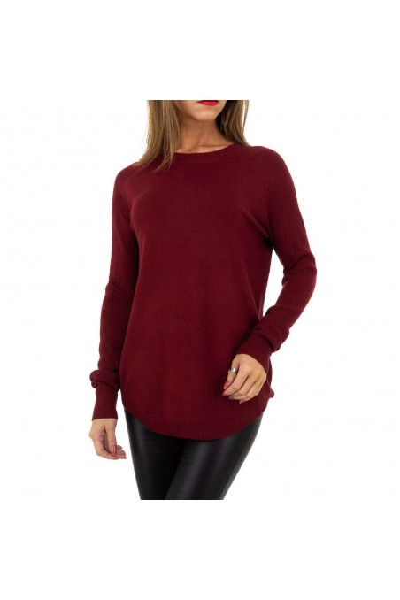 Damen Pullover von Whoo Fashion Gr. One Size - wine