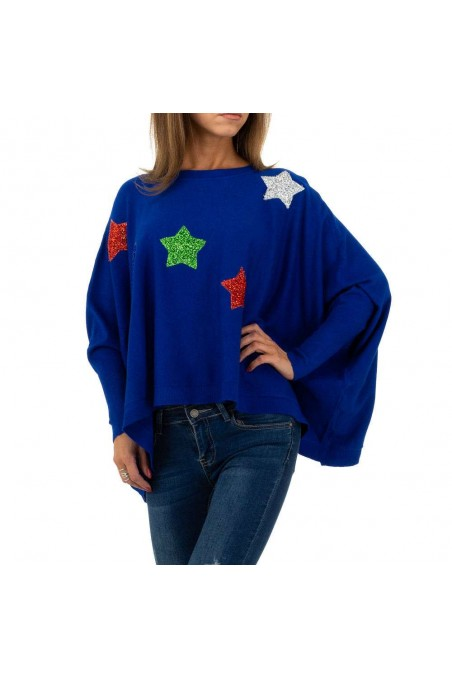 Damen Pullover von Whoo Fashion Gr. One Size - blue
