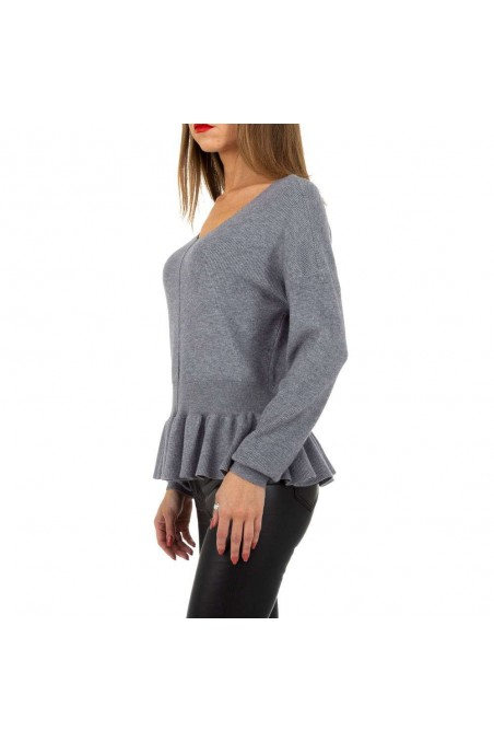Damen Pullover von Whoo Fashion Gr. One Size - grey