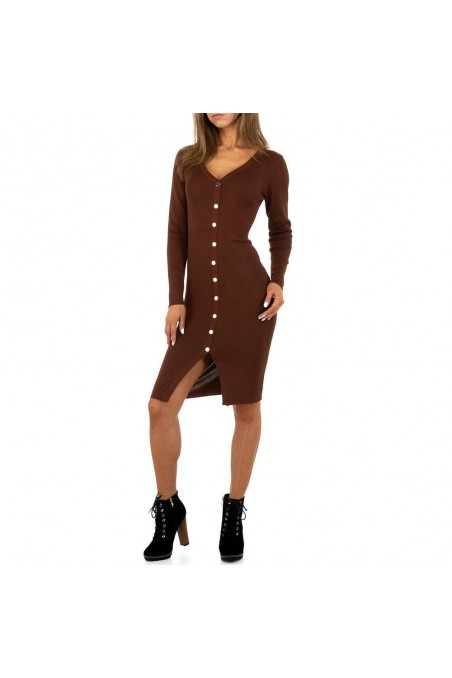 Damen Kleid von Drole de Copine Gr. One Size - brown