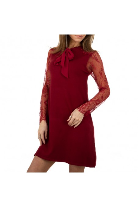 Damen Kleid von Whoo Fashion Gr. One Size - wine