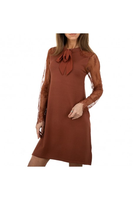 Damen Kleid von Whoo Fashion Gr. One Size - brown