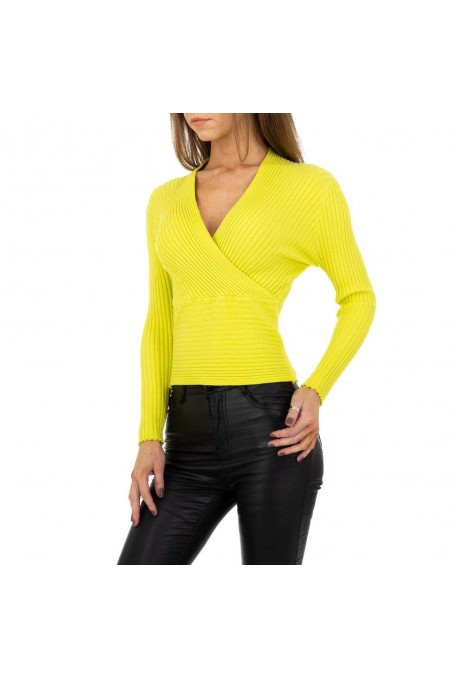 Damen Pullover von Drole de Copine Gr. One Size - neongreen