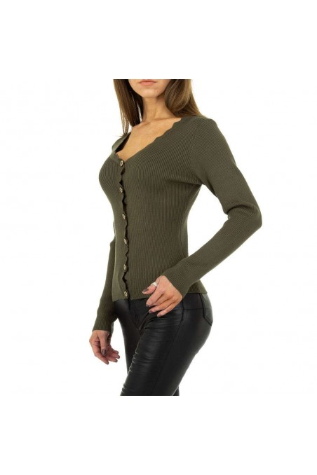 Damen Strickjacke von Drole de Copine - khaki