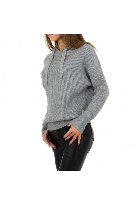 Damen Pullover von Drole de Copine Gr. One Size - grey