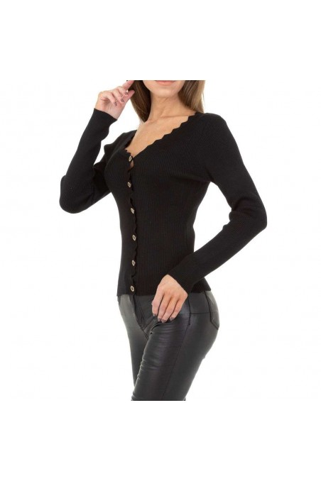 Damen Strickjacke von Drole de Copine - black