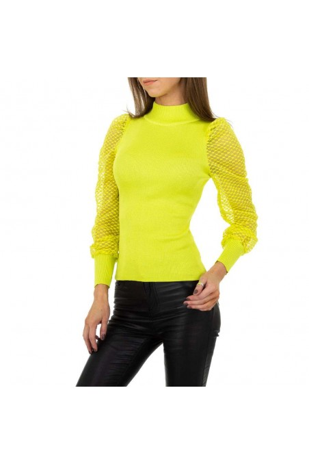 Damen Pullover von Drole de Copine Gr. One Size - yellow