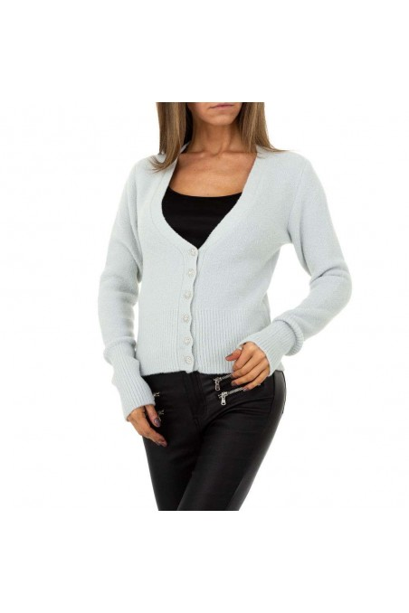 Damen Strickjacke von Shako White Icy Gr. One Size - L.grey