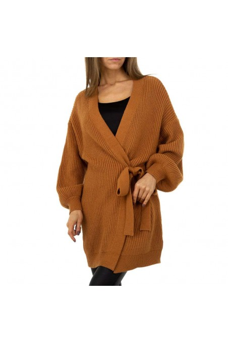 Damen Strickjacke von Shako White Icy Gr. One Size - camel