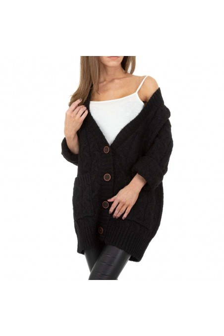 Damen Strickjacke von Drole de Copine Gr. One Size - black