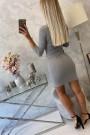 Šviesiai pilka trumpa suknelė