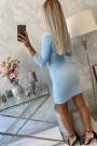 Žydra trumpa suknelė