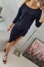 Juoda suknelė su 3/4 rankovėmis