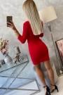 Raudona trumpa suknelė