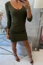 Chaki spalvos trumpa suknelė